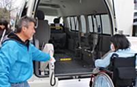うつのみや介護タクシーの特徴ご利用の流れ 3.目的地到着